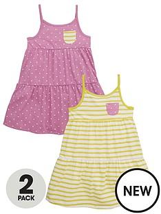 mini-v-by-very-toddler-girls-2pk-stripe-amp-pink-marl-spot-dresses