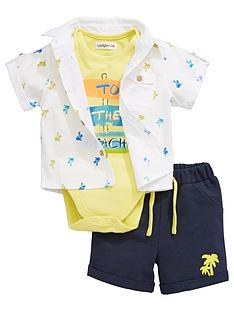 ladybird-baby-boys-3pc-shirt-bodysuit-and-short-set