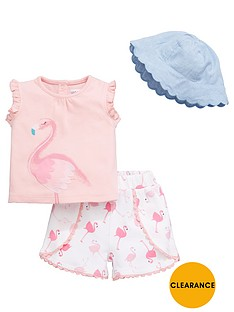 ladybird-baby-girls-flamingo-hat-vest-and-short-set