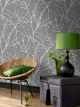 Superfresco Easy Superfresco Easy Innocence Charcoal And Silver Wallpaper Picture