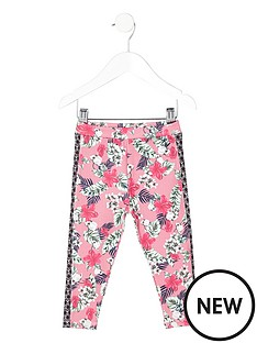 river-island-mini-girls-pink-tropical-print-leggings