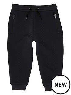 river-island-mini-boys-navy-textured-joggers