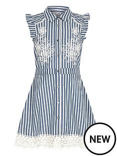 river-island-girls-stripe-embroidered-tea-dress