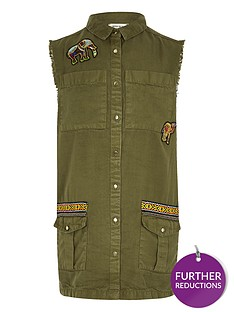 river-island-girls-khaki-embroidered-sleeveless-shaket