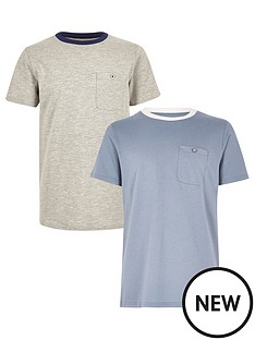 river-island-boys-blue-and-grey-t-shirts-2-pack