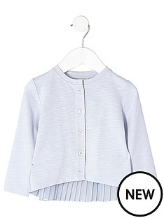 river-island-mini-mini-girls-blue-knit-pleated-back-cardigan