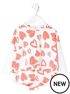 river-island-mini-girls-heart-print-sweatshirt-and-short-set