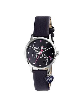 Radley Radley Love Printed Dial Heart Charm Navy Ladies Watch