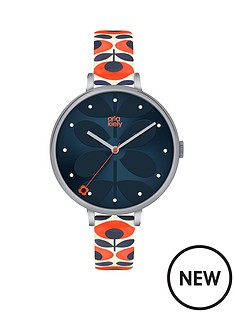 orla-kiely-orla-kiely-silver-rectangular-case-multicolour-stem-print-dial-silver-mesh-bracelet-ladies-watch