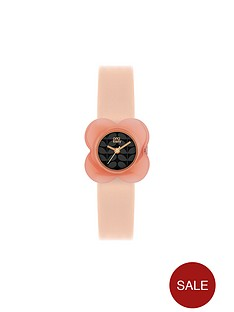 orla-kiely-poppy-pink-dial-cream-strap-ladies-watch