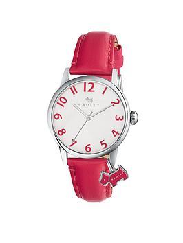 Radley Radley White Dial Dog Charm Pink Strap Ladies Watch