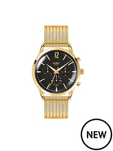 henry-london-henry-london-westminster-black-chronograph-dial-gold-tone-stainless-steel-mesh-bracelet-mens-watch