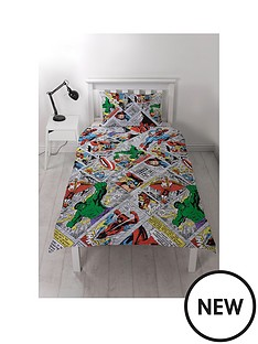 marvel-retro-comic-single-duvet-cover-set