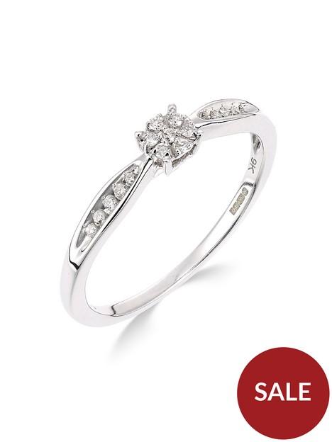 love-diamond-9ct-white-gold-10-point-diamond-cluster-ring