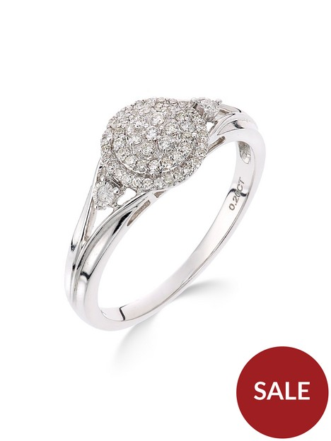 love-diamond-9ct-white-gold-18-point-diamond-cluster-ring