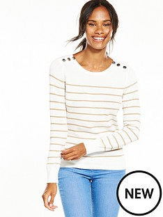 v-by-very-colourblock-button-detail-jumper