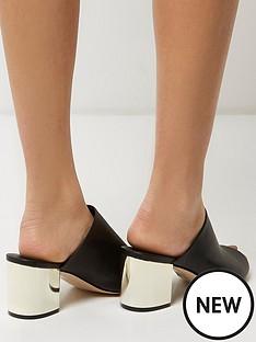 river-island-river-island-mule-sandal-with-sprayed-heel