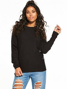 v-by-very-rib-batwing-jumper-black
