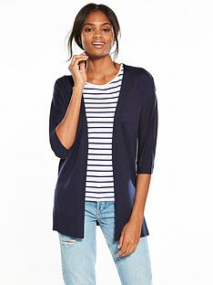 v-by-very-34-sleeve-edge-to-edge-split-side-cardigan