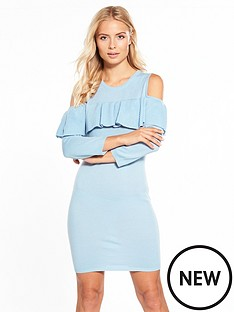 v-by-very-frill-cold-shoulder-jumper-dress