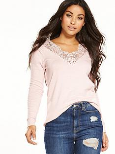 v-by-very-lace-v-neck-jumper-blush
