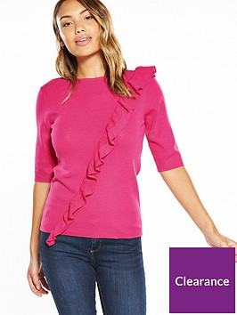 v-by-very-ruffle-half-sleeve-jumper