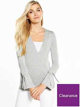v-by-very-drape-crossover-tie-sleeve-jumper