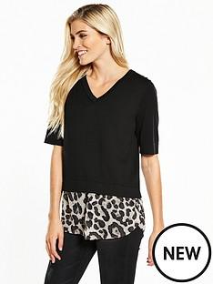 v-by-very-half-sleeve-2-in-1-jumper-black