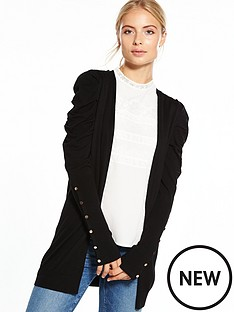 v-by-very-puff-shoulder-button-sleeve-cardigan