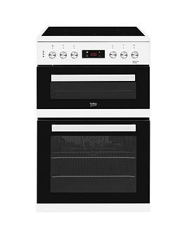 Beko Kdc653W 60Cm Electric Cooker With Ceramic Hob And Connection  White