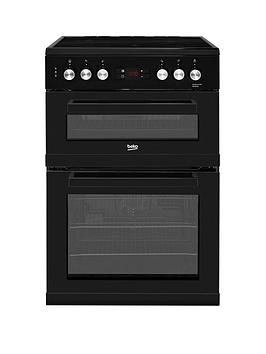 Beko Kdc653K 60Cm Electric Cooker With Ceramic Hob And Connection  Black