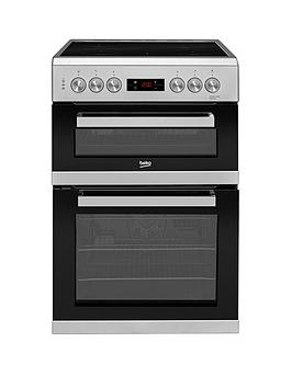 Beko   Kdc653S 60Cm Electric Cooker With Ceramic Hob - Silver