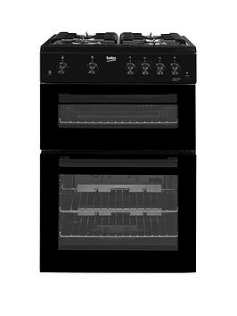 Beko   Kdg611K 60Cm Gas Cooker With Full Width Gas Grill - Black