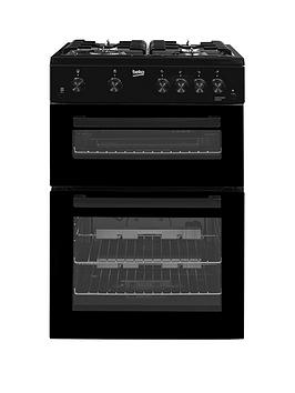 Beko Kdg611K 60Cm Gas Cooker With Full Width Gas Grill And Connection  Black