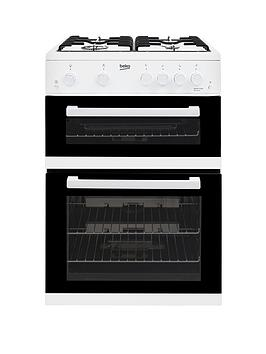Beko Kdg611W 60Cm Gas Cooker With Full Width Gas Grill  White