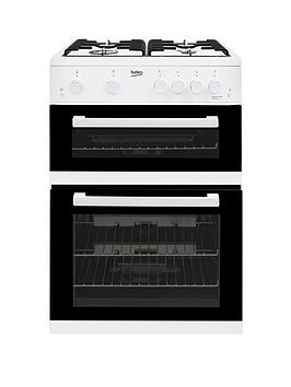 Beko Kdg611W 60Cm Gas Cooker With Full Width Gas Grill And Connection  White
