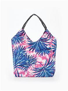 v-by-very-palm-print-slouch-beach-bag