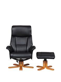 flint-faux-leather-recliner-amp-footstool