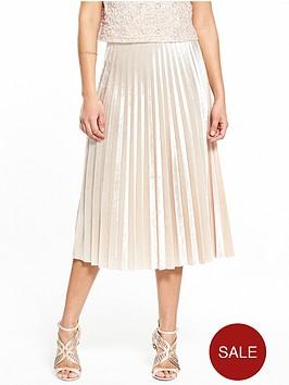 v-by-very-velvet-pleat-skirt