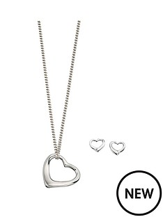 love-silver-sterling-silver-small-open-heart-pendant-and-earring-set
