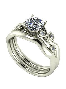 moissanite-moissanite-9ct-gold-105ct-total-round-brilliant-centre-vine-bridal-set