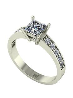 moissanite-premier-collection-9ct-gold-105ct-total-princess-cut-moissanite-solitaire-ring