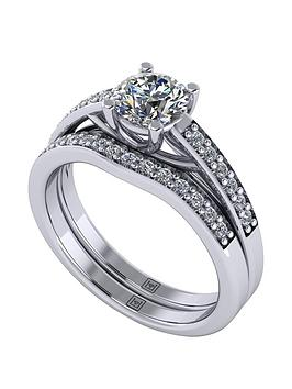 Moissanite Moissanite Lady Lynsey Platinum 1Ct Total Round Brilliant  ... Picture