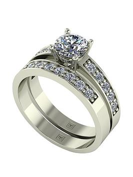 Moissanite Moissanite Lady Lynsey 9Ct Gold 1.20Ct Total Round Brilliant  ... Picture