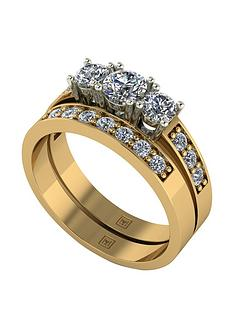 moissanite-moissanite-premier-collection-9ct-gold-1ct-total-trilogy-moissanite-bridal-set