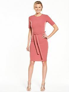 v-by-very-tie-waist-midi-dress