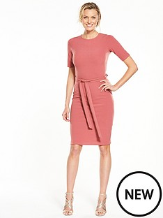 v-by-very-tie-waist-midi-dress