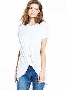 v-by-very-knot-front-dip-hem-t-shirt
