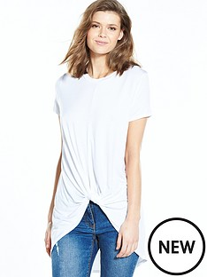 v-by-very-knot-front-dip-hem-t-shirt