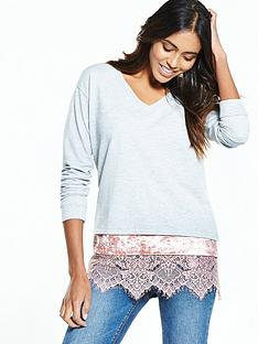 v-by-very-v-neck-top-with-crushed-velvet-and-lace-hem